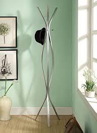 amazon com monarch specialties contemporary high coat rack 72