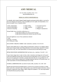 Medical Assistant Resume Templates Office Medical Office Resume Sample