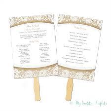 burlap wedding programs burlap and lace rustic wedding program fan template