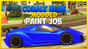 gta 5 online cobalt blue modded paint job secret paint job