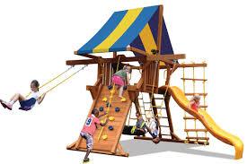 Double Swing Deluxe Outdoor Playcenter W Double Swing Arm