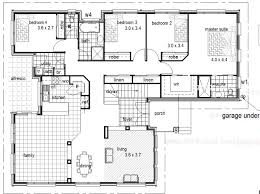 Steel Kit Homes Floor Plans Garage Under Sloping Land House Plan House Floor Plan Kits