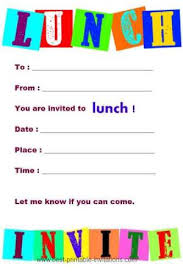 lunch invitation cards printable invitations to lunch
