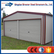prefab portable steel structure car parking shed garage design