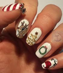 somethings about nail art rhinestone 365 days of nail art day 355 christmas nails with subtle 3d