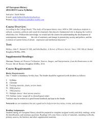 ap european history 2014 2015 course syllabus
