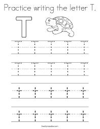 letter t handwriting worksheets kindergarten docoments ojazlink