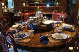 polish pottery place settings polish pottery table is set kitchen