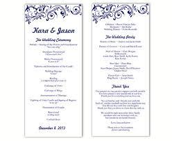 Template For Wedding Programs Wedding Program Template Diy Editable Word File Instant Download