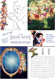 printable version of snow white free snow white printables activity pages games and more mommy mafia