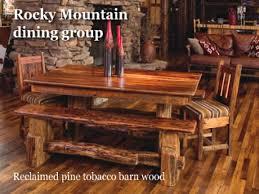log cabin dining room furniture dining room ideas