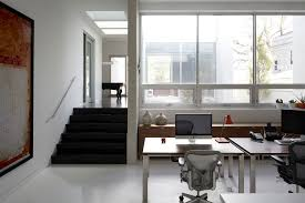 hip and cool white square laptop table and modern swivel office