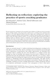 sample of gibbs reflective essay reflecting on reflection exploring the practice of sports reflecting on reflection exploring the practice of sports coaching graduates pdf download available