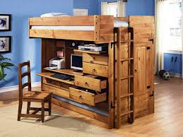 wooden full size loft bed with desk underneath ideas u2013 home