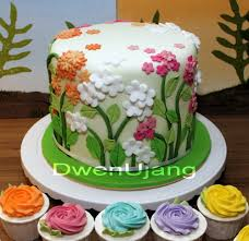dwen the cool things i love flower and garden wedding cake