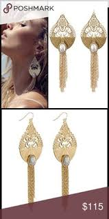 grande earrings wills wildest dreams grand tassel earrings