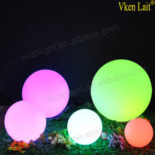 multi color outdoor hanging led light balls floating led sphere