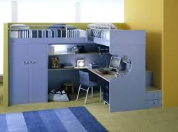 Desk With Bed Furniture Bunk Beds With Study Kid Desk Computer Childrens Table