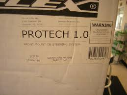 uflex protech front mount outboard hydraulic steering package