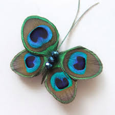 peacock feather butterfly fascinator clip comb pin diy and recycle