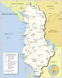 Where Is Greece On The Map by Political Map Of Albania Nations Online Project