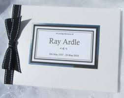 funeral guest book funeral guest book etsy