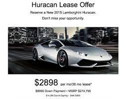 2015 lamborghini huracan lease offer