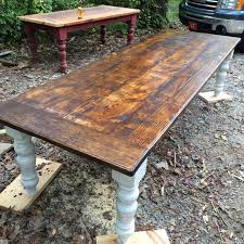 10 ft farmhouse table 10 foot rustic farmhouse table by wellsworksfurniture on etsy