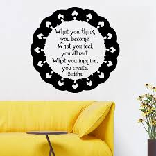 mandala wall decals buddha quote what you think you become details mandala wall decals