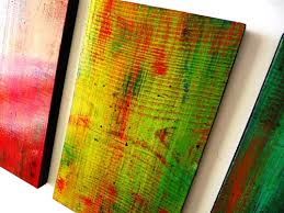 solidarity in color original abstract large wood panel wall