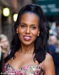 kerry washington hair pin up how to copy beyonce s half up half down hairstyle daily mail online