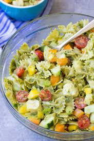 Pasta Salas Eat The Rainbow Pesto Pasta Salad Recipe Video Kristine U0027s Kitchen