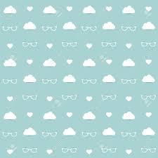 minimalistic repeat kids wall paper decor soft blue color