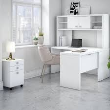White L Shaped Desk With Hutch Kathy Ireland Office By Bush Echo 4 L Shape Desk Office