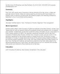 Math Tutor Job Description Resume by Tutor Resumes Resume Cv Cover Letter