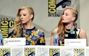 natalie dormer and sophie turner at comic con rebrn com