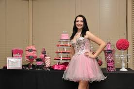 Pink And Black Candy Buffet by My Dream Party Part 3 The Candy Table