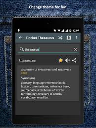thesaurus confirmation pocket thesaurus apk download android books reference apps