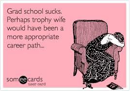 School Sucks Meme - grad school sucks perhaps trophy wife would have been a more