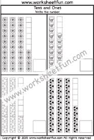 tens and units worksheets printable numbers tens and ones free printable worksheets worksheetfun