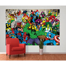 1 wall marvel avengers hulk ironman wallpaper mural 1 58m x 2 32m 1 wall marvel avengers hulk ironman spiderman photo wallpaper mural 1 58m x 2 32m