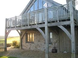 upside down house floor plans glazed gable on first floor with oak balcony by roderick james