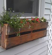 diy window flower boxes pallet planter pallets box and planters