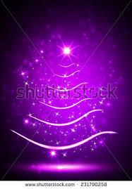 purple christmas tree purple christmas tree sparkle light background stock illustration
