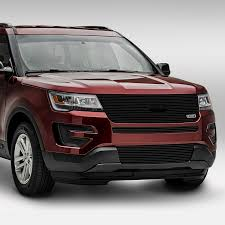 Ford Explorer Exhaust - t rex ford explorer 2017 1 pc black horizontal laser billet grille