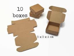 craft boxes bulk 10 small kraft paper box 5x5x2 cm mini tiny gift box