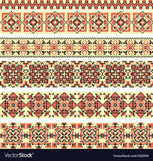 ukraine pattern vector cross stitch ethnic ukraine pattern royalty free vector