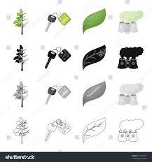 degenerate tree electric car key bio stock vector 715635991