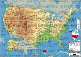 map of united states physical characteristics of the united states power point polk