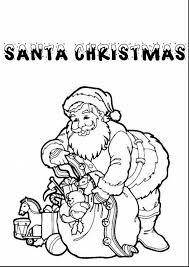 extraordinary retro santa christmas coloring pages santa